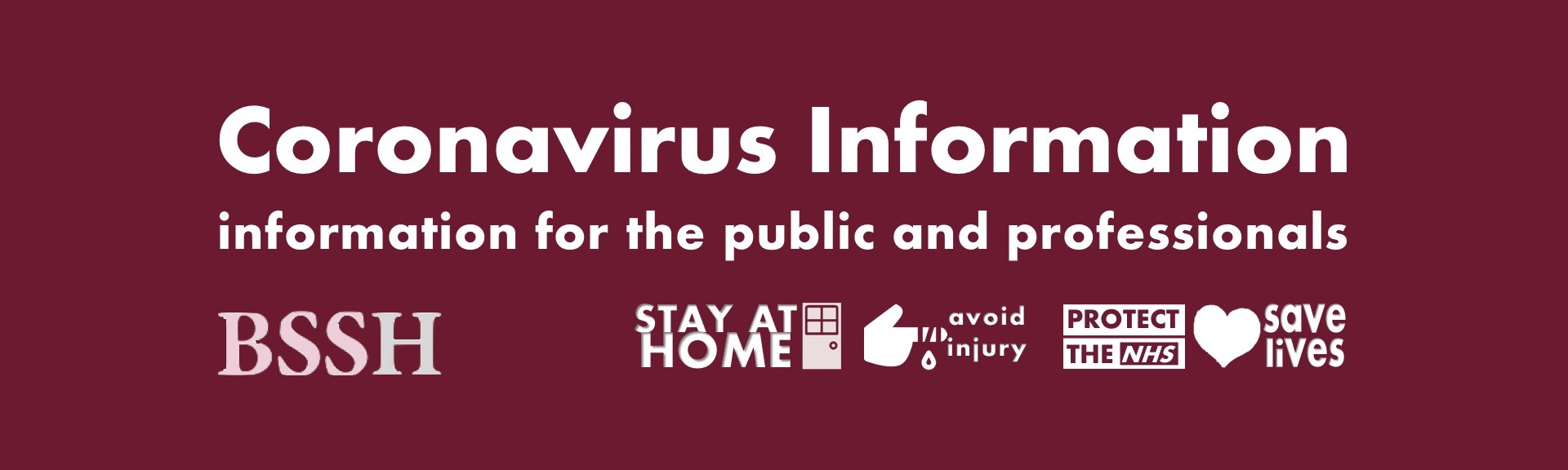 Coronavirus Information - resources for the public and professionals